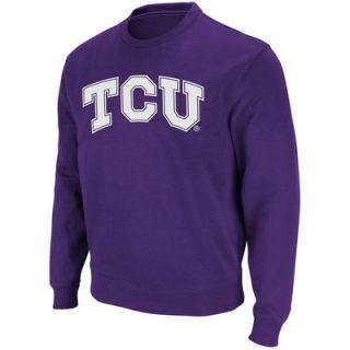 TCU Horned Frogs Stadium Athletic Arch & Logo Crew Pullover Sweatshirt   Purple