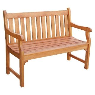Vifah Outdoor 2 Seater Wood Henley Bench   Brown