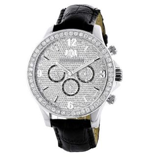 Luxurman Mens Celebrity Diamond Liberty 0.5ct Diamond Accent Watch