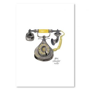 Rotary Phone by Gina Maher Painting Print on Canvas by Americanflat