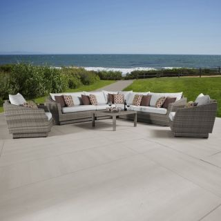 Cannes Moroccan Cream Corner Sectional and Club Chair Outdoor