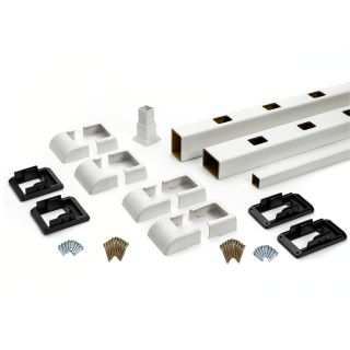 Trex Select 24 Pack Classic White Composite Deck Railing Kit (Assembled: 7.625 ft x 3 ft)