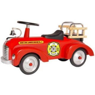 Morgan Cycle Vintage Fire Engine Scoot ster Riding Push Toy