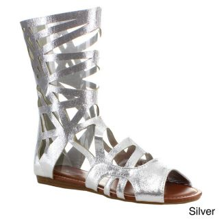 Forever Womens Sonia 83 Cut out Gladiator Style Mid calf Sandals