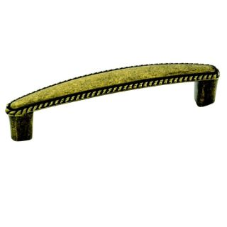 Amerock Traditional 4.25 Inch Burnished Brass Rope Cabinet Pull (Pack
