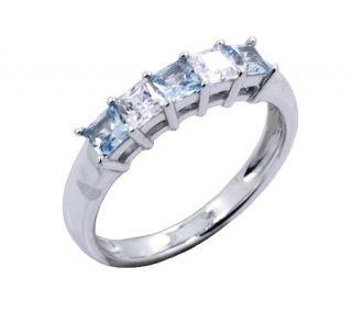 Diamonique Princess Cut Ring, Plat inum Clad —