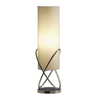 Nova Lighting 26 in Chrome Indoor Table Lamp with Fabric Shade