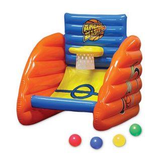 "32"" Aqua Fun Inflatable Swimming Pool Arcade Basketball Game"