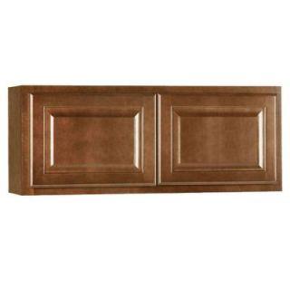 Hampton Bay Assembled 36x15x12 in. Hampton Wall Cabinet in Cognac KW3615 COG
