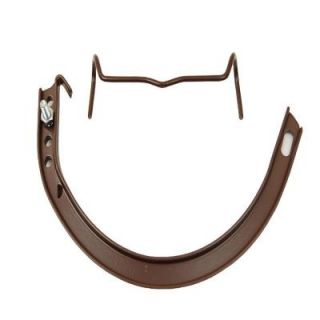 Amerimax Home Products 5 in. Royal Brown Half Round Aluminum Hangers #10 Circle with Spring Clip, Nut and Bolt CIRBA5
