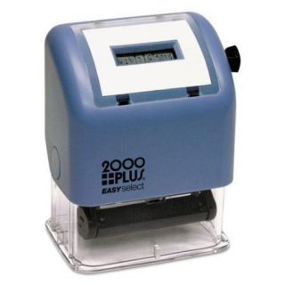 """Consolidated Stamp Cosco 011091/2 2000 Plus Easy Select Dater   Date Stamp   0.16"""" X 0.94""""   4 Bands   Black"""