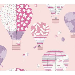 Peek A Boo 27 x 27 Hot Air Balloon Wallpaper