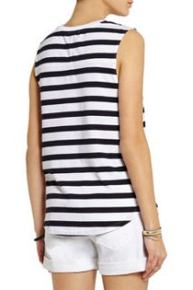 Crelle striped cotton jersey top  Theory