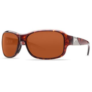 Costa Del Mar Inlet Sunglasses   Tortoise Frame with Copper 580P Lens
