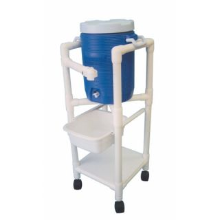 MJM International 47 Hydration Cart with 5 Gallon Water Cooler