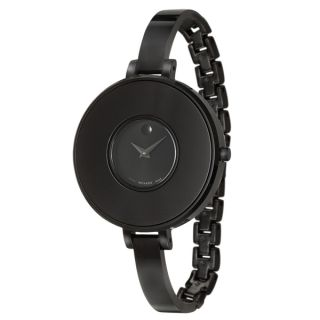 Movado Womens 0606562 Brila Stainless Steel Black PVD Coated Swiss