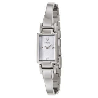 Bulova Womens 96L152 Metallic Silver Stainless Steel Quartz Watch