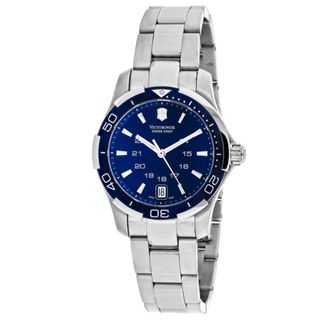 Swiss Army Womens 241307 Alliance Round Blue dial Stainsless steel