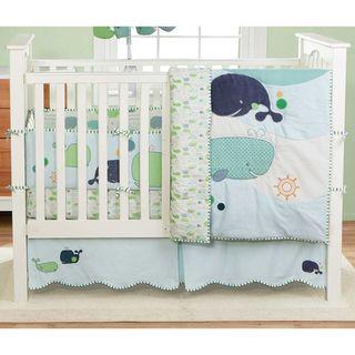 BananaFish MiGi Little Whale 3 Piece Crib Bedding Set