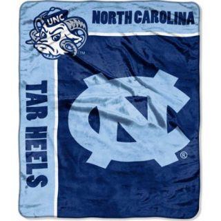 "NCAA School Spirit 50"" x 60"" Royal Plush Raschel Throw, University of North Carolina"