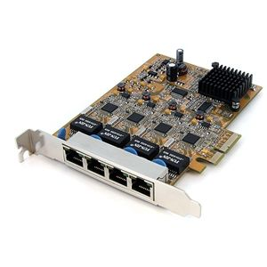 StarTech ST1000SPEX4 Gigabit Ethernet PCIe NIC Network Adapter Card   4 Port