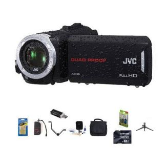 GZ R70 B JVC JVC GZ R70 Quad Proof 32GB Flash Full HD Camcorder,  Bundle With 32GB Class 10 SDHC Card, Video Bag, Cleaning Kit, SD Card Reader, Memory Card Holder, Aluminum Table Top Tripod, Screen Protector, V Bracket With 2 Shoes, Portable Mobile Charger