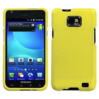 Insten Rubberized Phone Protector Case For Samsung I777 Galaxy S2, Yellow