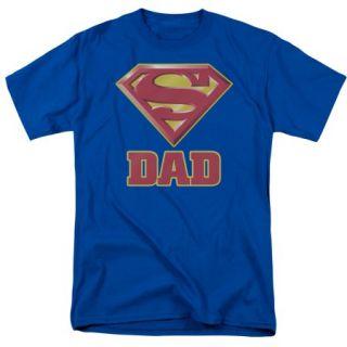 Superman Logo Super Dad Mens Short Sleeve Shirt
