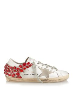 Super Star crystal embellished leather trainers  Golden Goose Deluxe Brand US