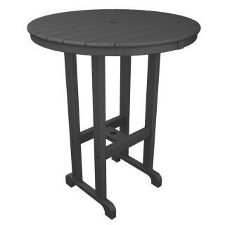 Trex Outdoor Furniture TXRBT236 SS Monterey Bay Round 36 Bar Table in Stepping Stone