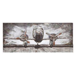 Wood/ Metal Airplane Wall Decor