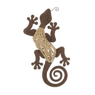 24 inch Traditional Swirled Tail Lizard Wall Sculpture   17346781
