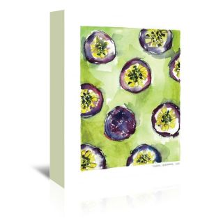 Pattern granadilla Painting Print on Wrapped Canvas by Americanflat