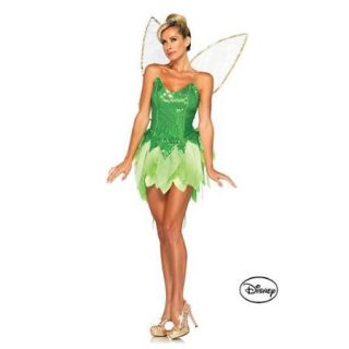 Adult Peter Pan's Pixie Dust Tinker Bell Disney Deluxe Costume   Size S