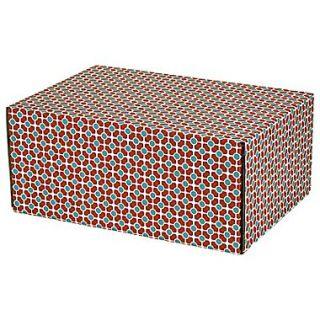 08.8(L)X 5.5(W)X12.2(H) GPP Gift Shipping Box, Classic Line, Tile Pattern, 24/Pack