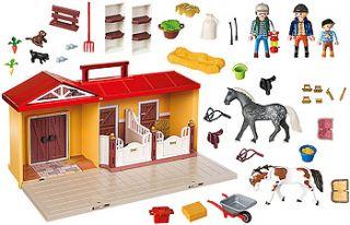 Playmobil Country Take Along Horse Farm 81 Piece Building Set    Playmobil