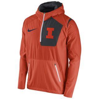Illinois Fighting Illini Nike 2016 Sideline Vapor Fly Rush Half Zip Pullover Jacket   Orange