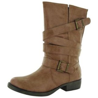 Rocket Dog Womens Truly McClearan Strap Motorcycle Boot Shoe, Whiskey, US 10