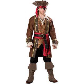 Mens Captain Skullduggery Elite Halloween Costume   Adult Size    Buyseasons