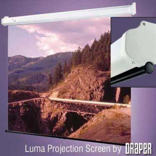 Draper Luma, HDTV Format Manual Wall or Ceiling Mounted Projection Screen, 52x92, 106 Diagonal, Fiberglass High Contrast Grey 207105
