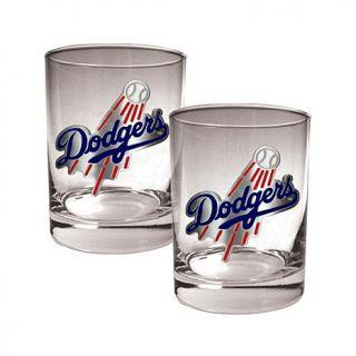 Great American MLB 2 piece Rocks Glass Set   Chicago White Sox   La Dodgers   7786772