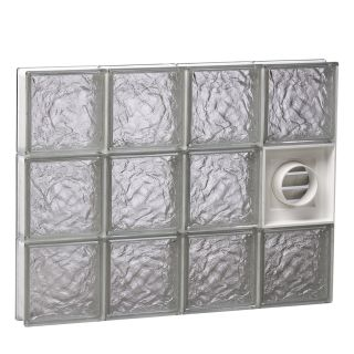 REDI2SET Ice Glass Pattern Frameless Replacement Glass Block Window (Rough Opening: 20 in x 22 in; Actual: 19.25 in x 21.25 in)