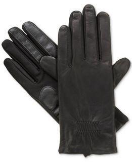 Isotoner Gathered Stretch Leather SmarTouch Tech Gloves   Handbags