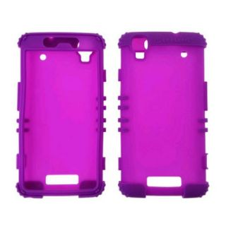 Rocker Series Silicone Skin Protector Case for ZTE Max N9520 (Dark Pruple)