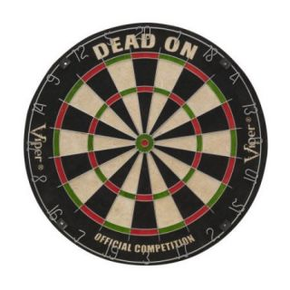 ! Viper Dead On Bristle Dart Board with FREE Fat Cat Highlander Steel Tip Darts
