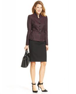 Le Suit Four Button Dot Print Jacket Skirt Suit   Wear to Work   Women