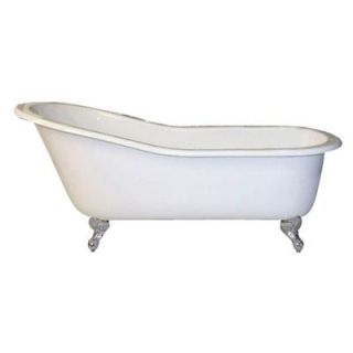 Pegasus 5 ft. Cast Iron Ball and Claw Feet Slipper Tub in White CTSN60 WH SN