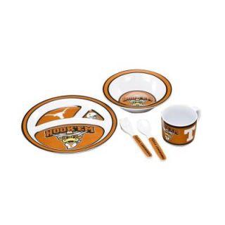 BSI Products NCAA Texas Longhorns 5 Piece Kid's Dish Set 31034