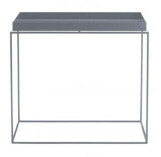 Tray Coffee table   Rectangular   H 50 cm / 60 x 40 cm Grey by Hay