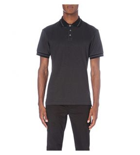 MOSCHINO   Embroidered logo cotton piqué polo shirt